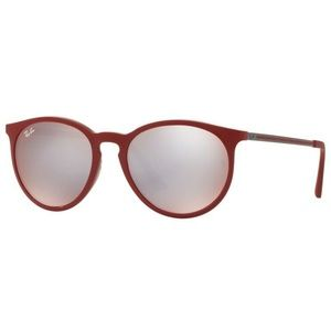 Ray-Ban Round Bordeaux Flash Grey Mirrored Lens